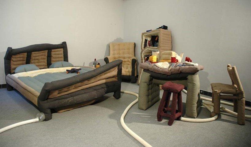 Надувная мебель дизайнера Ламбера Кемпса (Нидерланды)