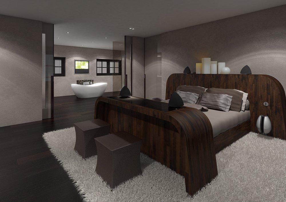 Мебель для спальни, изготовлена из плит ECOBoard