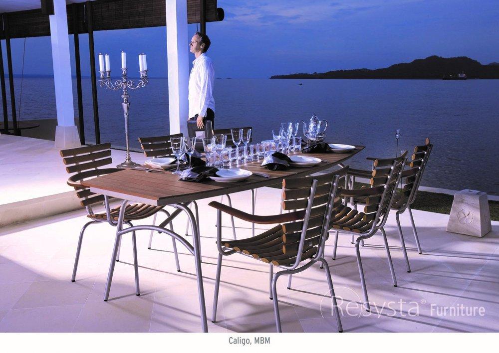 Мебель для ресторанов, выполнена из материала Resysta