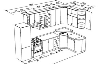 Проектирование кухонной мебели проектирование