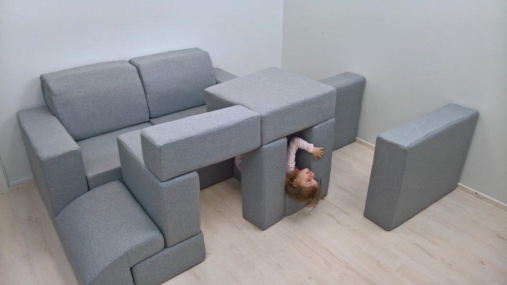 Чудеса трансформации мобильной модульной мягкой мебели. Игровая