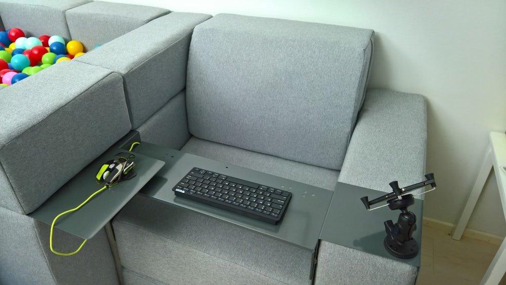 Чудеса трансформации мобильной модульной мягкой мебели. Кресло