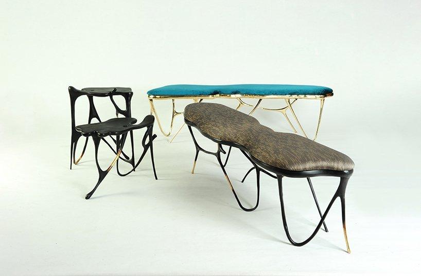 Masaya, Мебель из латуни Ink Collection, Бангкокский дизайнер Апиват Читапанья, Искусство китайской каллиграфии