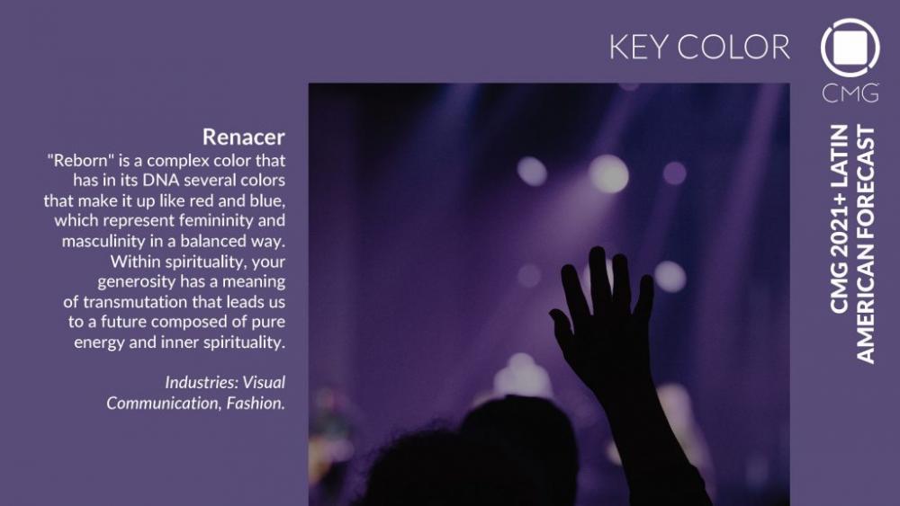 Насыщенный фиолетовый «Renacer» (возрождение), ключевой цвет Латинской Америки, цвет будущего